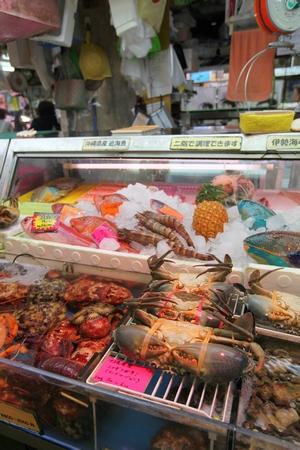 牧志公設市場・鮮魚店(縦):No.0056