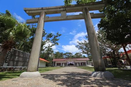 護国神社・鳥居(横):No.0050
