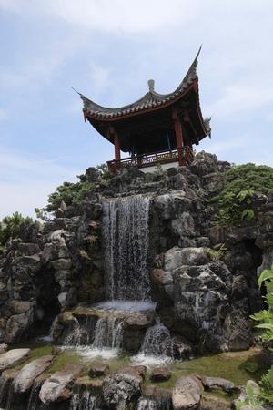 福州園・滝(縦):No.0113