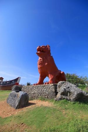 残波岬公園の巨大シーサー(縦):No.0291