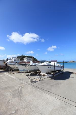 浜比嘉島・船(縦):No.0333