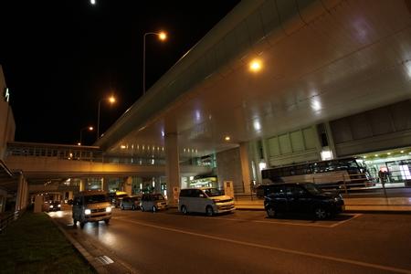 那覇空港・夜(横):No.0587