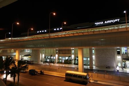 那覇空港・夜(横):No.0589
