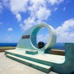 喜屋武岬の「平和の塔」(縦):No.0755