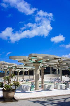 沖縄コンベンションセンター・パーゴラ(縦):No.0953