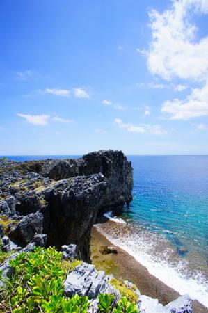 辺戸岬から見える海(縦):No.0928