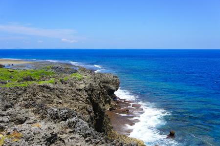 辺戸岬から見える海(横):No.0935