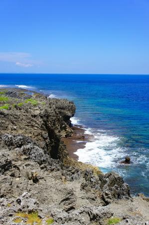 辺戸岬から見える海(縦):No.0936