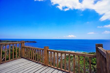 ヤンバルクイナ展望台から見える海(横):No.0876