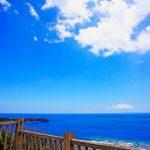 ヤンバルクイナ展望台から見える海(縦):No.0877