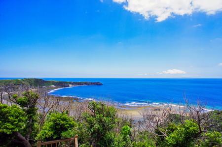 ヤンバルクイナ展望台から見える海(横):No.0878