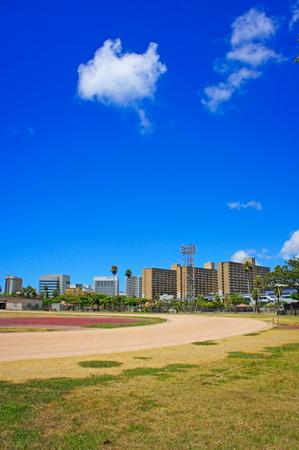 奥武山総合運動場・陸上競技場(縦):No.0965