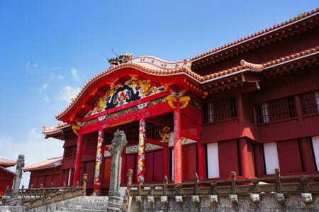 世界遺産 首里城・正殿(横):No.0673