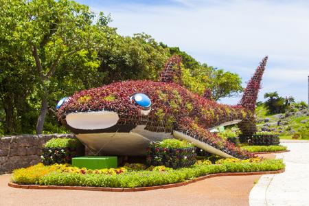 海洋文化館・クジラのオブジェ(横):No.1144