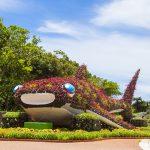 海洋文化館・クジラのオブジェ(横):No.1145