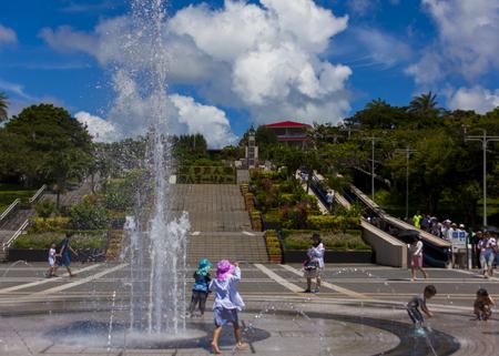 海洋博公園・噴水(横):No.1199