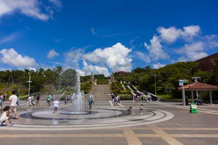 海洋博公園・噴水(横):No.1200