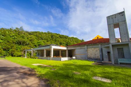 東村立 山と水の生活博物館・屋外(常設展示室側)(横):No.1354