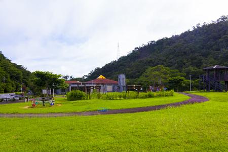 東村立 山と水の生活博物館・屋外(横):No.1356