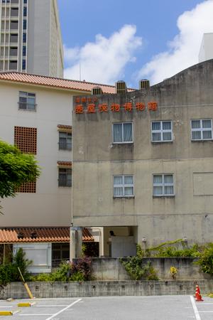 那覇市壺屋焼物博物館・側面外観(縦):No.1575