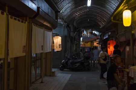 栄町市場(夜)(横):No.1604