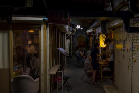 栄町市場(夜)(横):No.1607