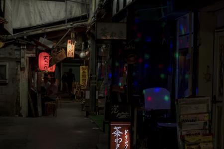 栄町市場(夜)(横):No.1608