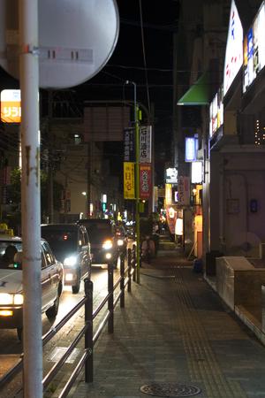 栄町(夜)・通り沿い(縦):No.1614