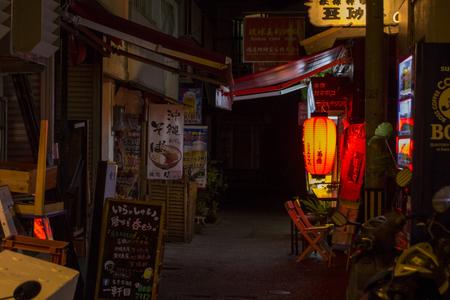 むつみ橋通り(夜)・裏手(横):No.1618