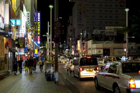 国際通り・むつみ橋(夜)(横):No.1628