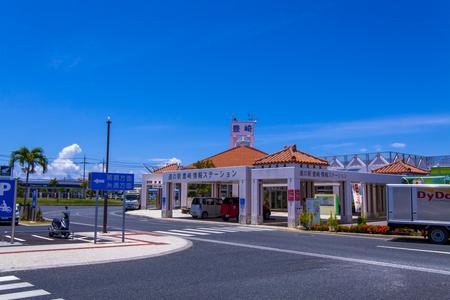道の駅 豊崎・情報ステーション・駐車場からの外観(横):No.1730