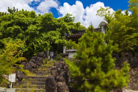 久米至聖廟(久米孔子廟)側からの福州園(横):No.1921