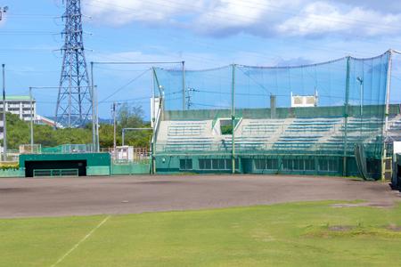 具志川野球場・観覧席とグラウンド(横):No.2088