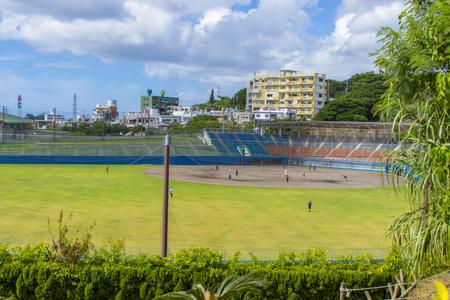 浦添市民球場・外周側からのグラウンド(横):No.2097