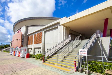 沖縄市体育館・外観側面(横):No.2012