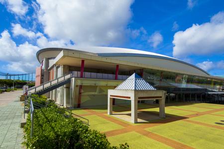 沖縄市体育館・外観(横):No.2013
