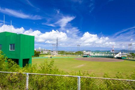 具志川野球場・外野側からのグラウンド(横):No.2017