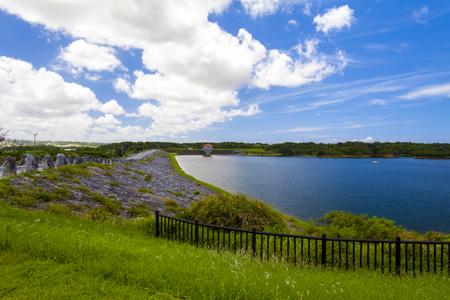 倉敷ダム・ダム湖(横):No.2037