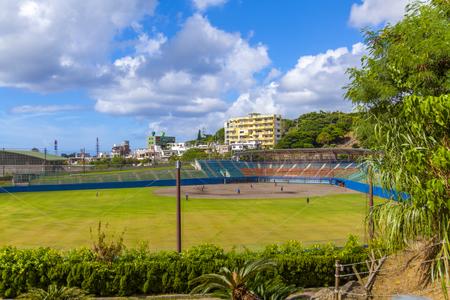 浦添市民球場・外野側からのグラウンド(横):No.2071