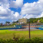 浦添市民球場・外周側からのグラウンド(縦):No.2073