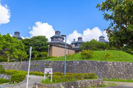 浦添市美術館・駐車場側からの外観(横):No.2084