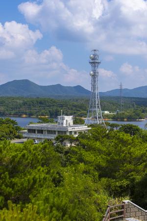 漢那ダム・高台から見た管理支所(縦):No.2269