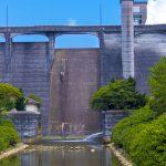 漢那ダム・洪水吐き(縦):No.2278
