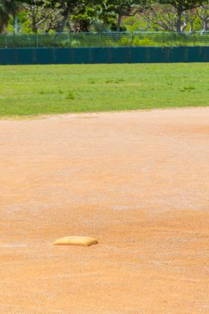 南城市営新開球場・グラウンドのベース(縦):No.2316