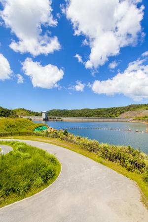 大保ダム・通路から見えるダム湖(縦):No.2102
