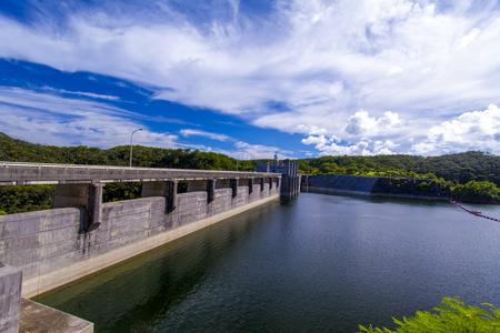 安波ダム・ダム湖(横):No.2145