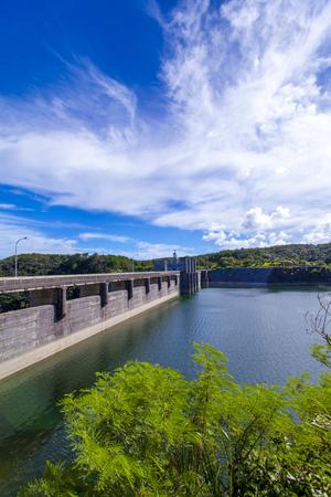 安波ダム・ダム湖(縦):No.2146