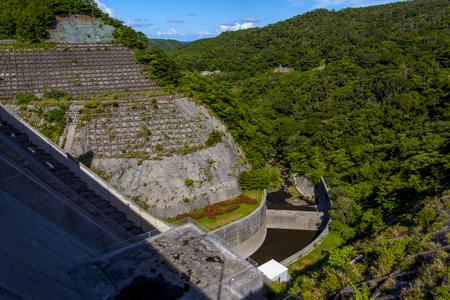 安波ダム・ダム頂からの景色(横):No.2150