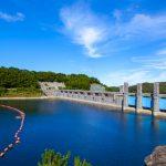 安波ダム・ダム湖(横):No.2154
