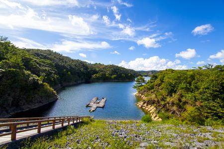 安波ダム・ダム湖(横):No.2157